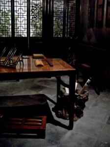 study room, biblioteca, birou, masa, camera chinezeasca
