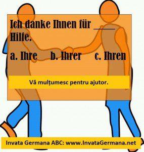 invata germana, limba germana, exrecitii germana, exercitii de limba germana, test germana, teste de limba germana, test germana b2, invata germana abc, ich danke ihnen, fur ihre hilfe