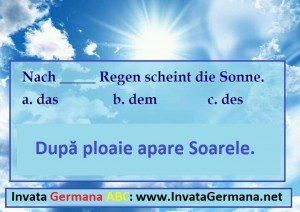 invata germana, limba germana, exrecitii germana, exercitii de limba germana, test germana, teste de limba germana, test germana b2, invata germana abc, prepozitii care cer dativul, cazul dativ