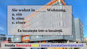 invata germana, limba germana, exrecitii germana, exercitii de limba germana, test germana, teste de limba germana, test germana b2, invata germana abc, articolul nehotarat, declinarile articolului nehotarat, dativul in germana, cazul dativ, dativ